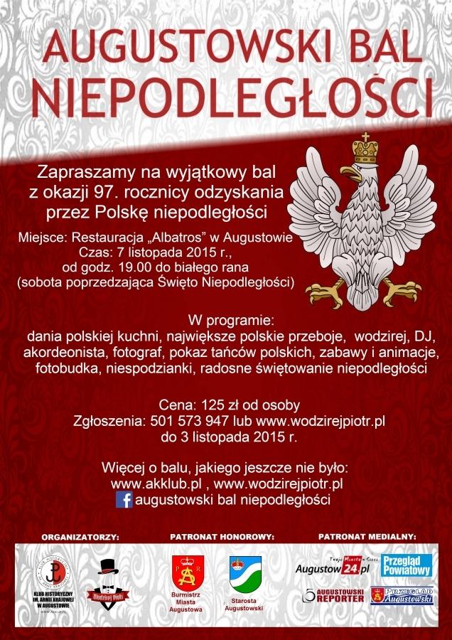 Plakat Balu Niepodległości